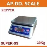ตาชั่งดิจิตอล เครื่องชั่งกันน้ำ ตาชั่งกันน้ำ เครื่องชั่งสแตนเลส 30Kg ความละเอียด 5g Waterproof Digital Scale New 30Kg/5g (SUPER-SS)