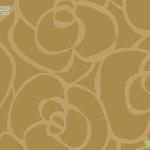 Wallpaper ดอกไม้ลายเส้นสีเหลืองเข้ม