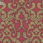 Wallpaper ลายหลุยส์สีทองพื้นแดง