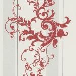 Wallpaper หลุยส์ลายทางใบไม้แดง