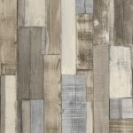 Wallpaper ลายไม้ระแนงแนวตั้งน้ำตาล ฟ้า