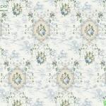 วอลเปเปอร์ลายหลุยส์ดอกไม้สีฟ้า