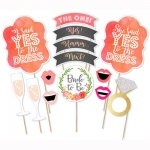 WATERCOLOR Photo Prop Set for Hen Night