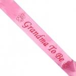 สายสะพาย GRANDMA TO BE (สีชมพู) (สำหรับงาน Baby Shower)