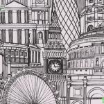 วอลเปเปอร์ติดผนังงลายภาพวาดเมืองลอนดอน