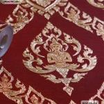 wallpaper ลายไทย เทพพนม สีแดง-ทอง