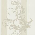 Wallpaper หลุยส์ลายทางใบไม้สีขาวครีม