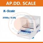 เครื่องชั่งดิจิตอล ทศนิยม 2 ตำแหน่ง Precision Balance รุ่น KB-3200 ค่าละเอียด 0.01 กรัม ยี่ห้อ K-Scale