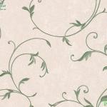 Wallpaper วินเทจใบไม้สีเขียวพื้นชมพู