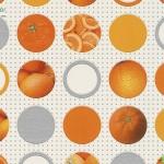 วอลเปเปอร์วงกลมลายผลส้มพื้นครีม