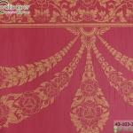 wallpaper ลายไทยห้องพระ ลายอุบะเฟื่องสีแดงเข้ม
