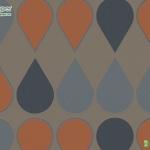 Wallpaper ลายหยดน้ำสีส้ม ฟ้า