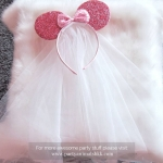 Adorable Glittering Minnie Mouse Veil