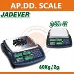 """ตาชั่งดิจิตอลนับจำนวน60kg เครื่องชั่งดิจิตอล60kg เครื่องชั่งนับจำนวน60กิโล เครื่องชั่งนับชิ้นงานแบบตั้งโต๊ะ60kg กิโลดิจิตอล60กิโลกรัม ความละเอียด2กรัม ตาชั่ง60กิโล JADEVER"""" รุ่น JCA II-60K แท่น 32*24cm."""