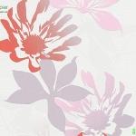 วอลเปเปอร์โมเดิร์นลายดอกไม้สีชมพูม่วง