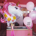 Pink Unicorn Balloon Set