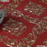 wallpaper ลายไทย ดอกพุดตาล สีแดง-ทอง