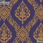 wallpaper ลายไทยห้องพระ ลายเทพพนมสีม่วง
