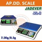ตาชั่งนับจำนวน7.5kg เครื่องชั่งน้ำหนัก7500กรัม เครื่องชั่ง7.5kg เครื่องชั่งดิจิตอล7.500g ความละเอียด0.5กรัม JADEVER JCL II-7.5k