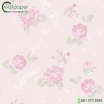 ดอกไม้วินเทจกุหลาบดอกสีชมพู