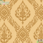 wallpaper ลายไทยห้องพระ ลายเทพพนมสีทอง
