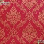 wallpaper ลายไทยห้องพระ บัวแก้วสีแดง