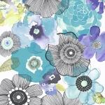 Wallpaper ลายดอกไม้สวยๆสีฟ้า ม่วง