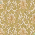 Wallpaper ลายดอกไม้,ใบไม้คลาสสิคสีเหลือง