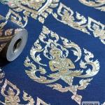 wallpaper ลายไทย เทพพนม สีน้ำเงิน-ทอง