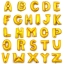 A-Z Alphabet 16-inch Gold Foil Balloon