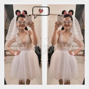 เวลคลุมผมเจ้าสาวพร้อมคาดผม Minnie/Mickey Mouse (อุปกรณ์งานปาร์ตี้สละโสด Hen Night Party)