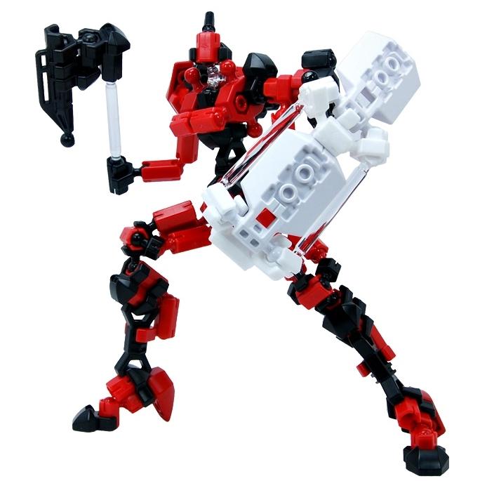 ASOBLOCK Epsilon Red อโซบล็อค หุ่นนักรบ Epsilon สีแดง