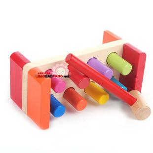 ของเล่นไม้ ชุดค้อนตอกแท่งไม้หลากสี