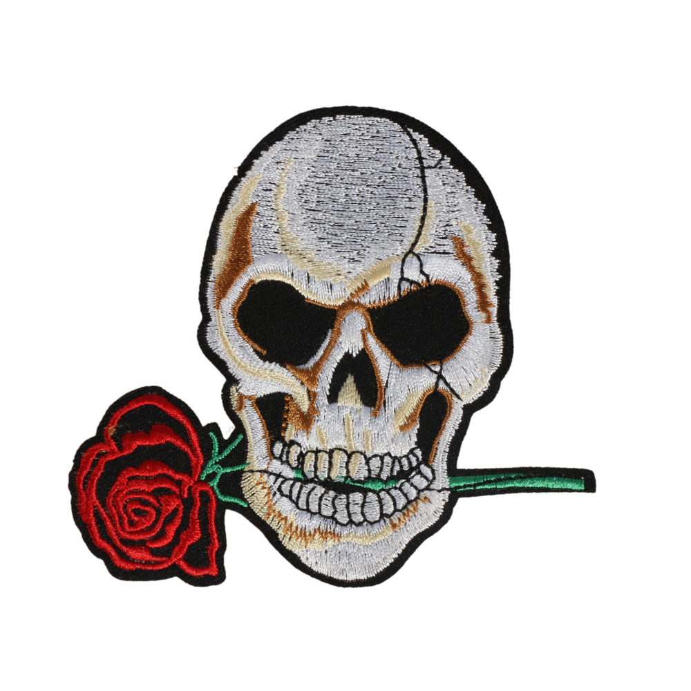 L0029 Rose Skull 10x6cm