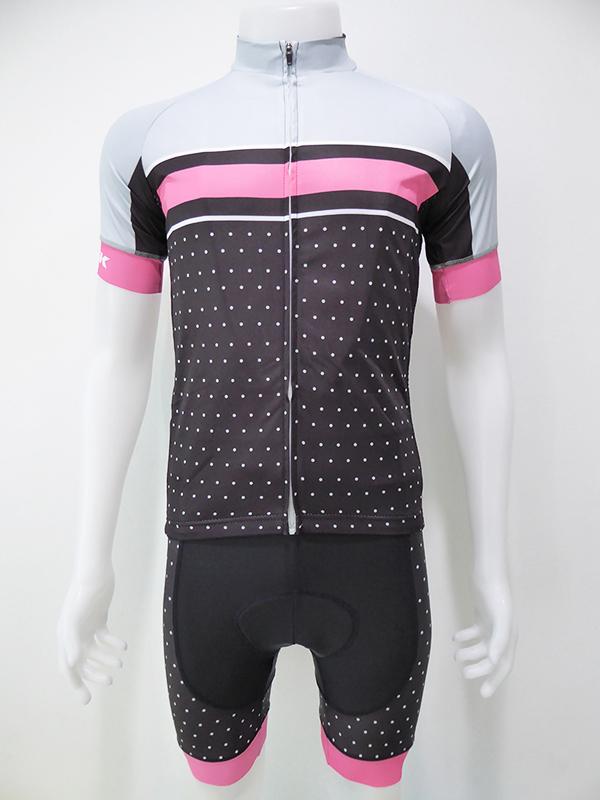 ชุดปั่นจักรยานสั้นปลายแขนและขาแบบเลเซอร์คัต Anti-Slip เอี๊ยม : XP170430