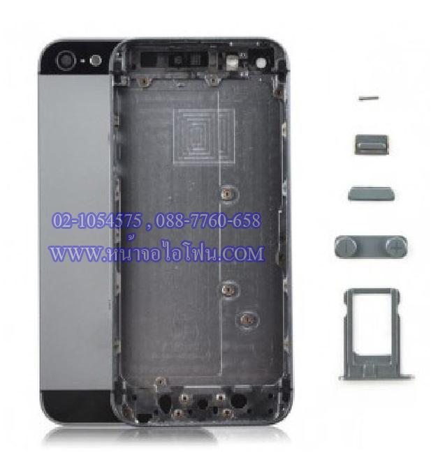 อะไหล่ไอโฟน บอดี้ iPhone 5S เคสกลางไอโฟน 5S (สีดำ)