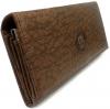 กระเป๋าธนบัตรหนังแท้ลายช้างสีน้ำตาล