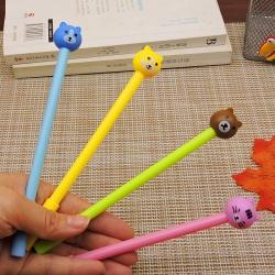 ปากกาหัวสัตว์จิ๋ว(เจลน้ำเงิน) ราคา 96 บาท/โหล 12 ชิ้น/โหล
