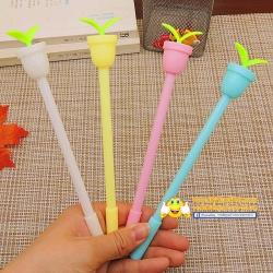 ปากกาหัวกระถาง(เจลน้ำเงิน) ราคา 96 บาท/โหล 12 ชิ้น/โหล