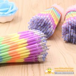 ไส้ปากกาเจลสีรุ้ง หัว0.5มิล 24 บาท/แพค 12ชิ้น/แพค