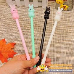 ปากกาตัวกระต่ายนั่ง(เจลน้ำเงิน) 96 บาท/โหล 12ชิ้น/โหล