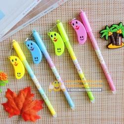 ปากกาห้อยกล้วยยิ้มลบได้(เจลน้ำเงิน) ราคา 96 บาท/โหล 12 ชิ้น/โหล