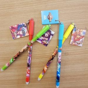 ปากกาเจลลบได้หัวห้อยอีโร่(เจลน้ำเงิน) 96 บาท/โหล 12ชิ้น/โหล