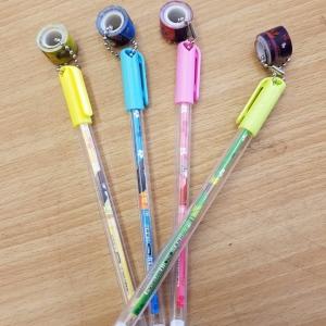 ปากกาเจล หัวห้อยวงล้อ(เจลน้ำเงิน) 96 บาท/โหล 12ชิ้น/โหล