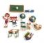 จิ๊กซอว์ไม้หมุด ชุดในห้องเรียนและคำศัพท์ มีพื้นหลัง ขนาด 30x20 เซนติเมตร