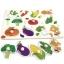 จิ๊กซอว์หมุดไม้ชุดผักน่ารู้ มีพื้นหลัง ขนาด 30X20 เซนติเมตร
